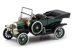 "1910 Ford Model T Automobile ""Tin Lizzie"" by Newray Scale: This item is packaged in a window box and comes mounted on a removable base. Mazda, Ferrari, Chevy Stepside, 32 Ford, Popular Toys, Square, Diecast Model Cars, Ford Models, Classic Toys"