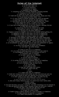 Memorize this people - and never forget Rule 34!