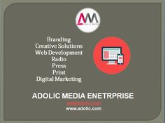 Advertising Agency Ahmedabad   Adolic Media is a cutting edge marketing and design company – we offer services for both traditional and digital media. Whether it is graphic design, web development, research, marketing strategy or branding or creative design. Digital content, social media and all web related technology and searches are an integral part of the skill set that Adolic Media has to offer.