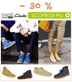 Scopri le #offerte riservate ai clienti #MarsiliStore! -30% su un modello intramontabile firmato #Clarks, #design e #stile #evergreen!  Scopri di più nel nostro negozio on-line --> http://bit.ly/1p8FZlM  #MustHave #WeLoveIt #Stiloso #Shoes #Scarpe #LoVoglio! #ModaItaliana #Outfit