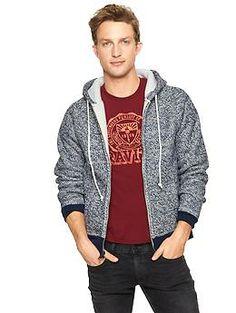$54 Gap Marled sherpa-lined zip hoodie