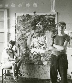 Willem de Kooning pioneered the gestural, abstract style of Action Painting that became the staple of New York Abstract Expressionism. Willem De Kooning, Action Painting, Jackson Pollock, De Kooning Paintings, Studios D'art, Elaine De Kooning, Atelier Photo, Lee Krasner, Expressionist Artists