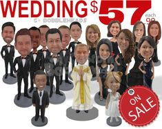 62db2741594 Custom Bobbleheads Personalized Bobblehead Cake Toppers by  BobbleheadsEtsyShop