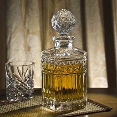 crystal whiskey decanters for the bar #home #decor