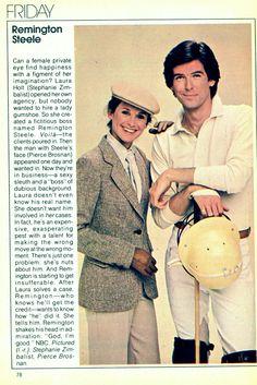 Remington Steele... Remember This ?  My First TV Crush... Pierce Brosnan.  ahhhhh