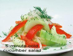 5-Minute Cold Cucumber Salad