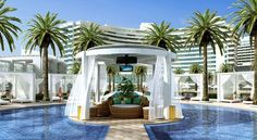 The luxurious Fontainebleau Hotel in Miami Beach, FL.  I've been here and this 5 star hotel is surrounded by some of the best cuisine and spa treatments you'll experience in the MIA!