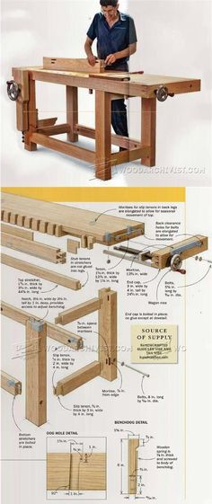 Ultimate Workbench Plans - Workshop Solutions Projects, Tips and Tricks | WoodArchivist.com #WoodworkingBench