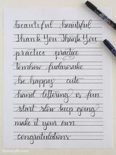 These free printable hand lettering practice sheets are designed help you practice the strokes of each letter to build up that muscle memory.