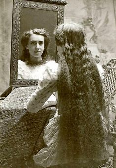 Vintage photograph of a young woman...