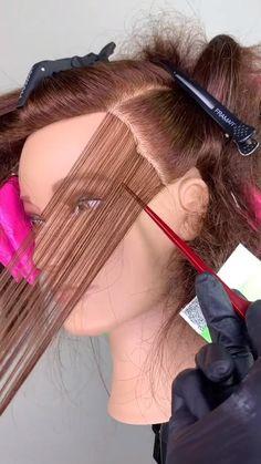 Hair Cutting Techniques, Hair Color Techniques, Hair Foils, Blonde Foils, Balayage Hair Tutorial, Hair Color Formulas, Colored Hair Tips, Ombre Hair Technique, Balayage Technique