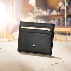 Wallets. 1 platinum card. 1 airmiles card. 1 gym membership card. 3 photos of the kids. European full-grain cowhide with Montblanc deep shine. #Accessories #Montblanc #UnboxtheMagicOfCraft