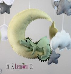 been a while but had a request to bring this one back Baby Crib Mobile, Baby Mobiles, Nursery Mobiles, Fluttershy, Cartoon Network Adventure Time, Dragon Mobile, Felt Baby, Baby Baby, Dragon Nursery