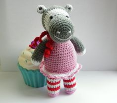 (4) Name: 'Crocheting : Crochet Hippo Twins