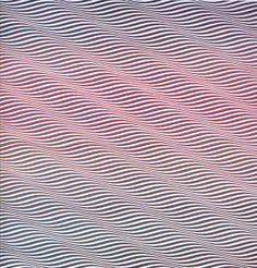 Bridget Riley - Cataract 3 1967 emulsion on canvas, x cm, british council, london Art Optical, Optical Illusions, Bridget Riley Op Art, Victor Vasarely, Art Walk, Royal College Of Art, Art Plastique, Geometric Art, Art Pictures
