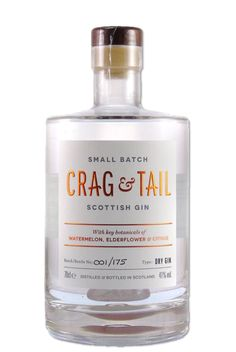 Crag & Tail Gin - Angus Mark Selby, Martin Millers, Scottish Gin, London Gin, Gin Distillery, Dry Gin, Elderflower, Gin And Tonic, Wine And Spirits