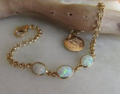 Opal Bracelet October Birthstone Fire Opal Bracelet Gilson