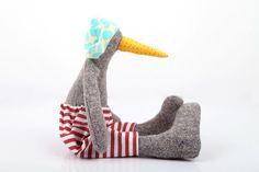 Stuffed Animal  Soft bird Rag Doll Plushie Softie by TIMOHANDMADE