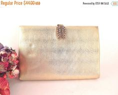Gold Lame Evening Bag HL USA Harry Levine by SpringJewelryThings