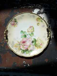 Beautiful old plate... Love the shape the artwork and the gilded edge. \u003c\u003e (pretty bits \u0027n bobs) | Pretty Bits \u0027n Bobs | Pinterest | China ... & Beautiful old plate... Love the shape the artwork and the gilded ...
