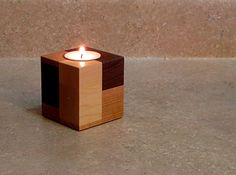 Etsy listing at https://www.etsy.com/listing/256462386/wooden-candle-holder-candle-holder