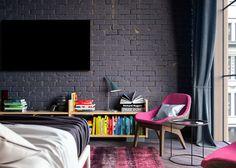 Glamor Loft   Moscow bedroom on Behance