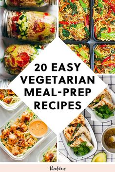 20 Vegetarian Meal-Prep Recipes to Make Once and Eat All Week purewow dinner lunch cooking food recipe easy vegetable 380413499776444066 Veggie Meal Prep, Vegetarian Meal Prep, Vegetarian Recipes Easy, Easy Meal Prep, Healthy Meal Prep, Veggie Recipes, Lunch Recipes, Easy Meals, Healthy Recipes