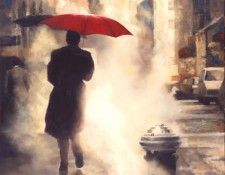 Limited edition giclee on canvas titled Walking Home by Daniel Del Orfano