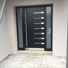 22 Modern Door Design Ideas - Local Home US - Home Improvement Modern Entry, Modern Front Door, House Front Door, House Doors, Aluminium Door Design, Aluminium Front Door, Main Door Design, Front Door Design, Model House Plan