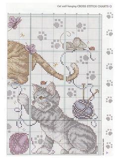 natty's cross stitch corner - Cat Wall a Hanging