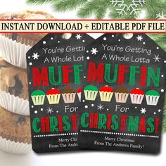 Muffin neighbor Gift Tags