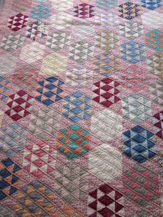 Antique hand sewn patchwork quilt