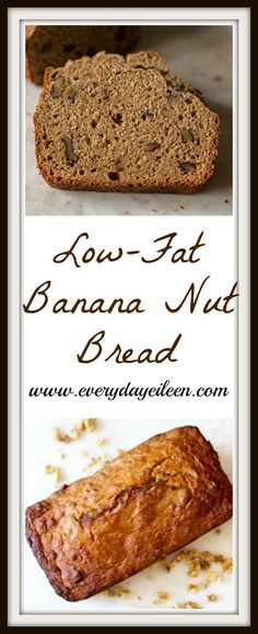 Low-fat banana nut bread is full of banana flavor and low in calories! Easy to prepare/ freezes really well!