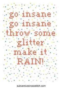 Throw some glitter make it rain...!!!