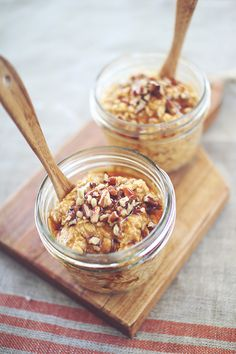 Pumpkin Pie Protein Overnight Oatmeal-this is good but I changed one thing! It has you add 1/2 cup milk and 1 cup oats...any time I've made overnight oatmeal with protein powder I always give equal amounts of milk & oats! It would be way too thick if you did it by the recipe in my opinion. But it is very good if you are a pumpkin & protein fan!