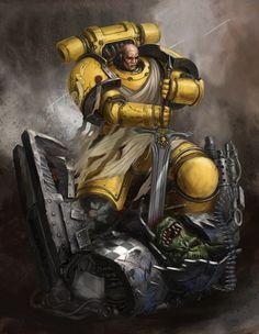 Warhammer 40000,warhammer40000, warhammer40k, warhammer 40k, ваха, сорокотысячник,фэндомы,Imperial Fists,Space Marine,Adeptus Astartes,Imperium,Империум,Orks