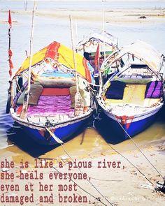 Sacred river, the Ganga. Bless you soul. Outdoor Furniture, Outdoor Decor, Blessed, River, Home Decor, Decoration Home, Room Decor, Home Interior Design, Backyard Furniture