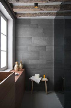 ajoutez de lardoise dans votre salle de bains dcouvrez cette pierre naturelle qui - Salle De Bain Ardoise Et Pierre