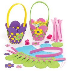 Baker Ross Flower Basket Weaving Kits (Pack of Mothers Day Crafts, Easter Crafts For Kids, Children Crafts, Crafts To Make, Fun Crafts, Arts And Crafts, Pop Out Cards, Easter Traditions, Art N Craft