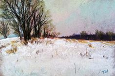 """Winter Colors - 4x6"""" - Available   Matted and Framed - $100  by Takeyce Walter  http://takeyceart.com/blog"""