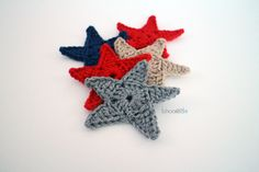 Crochet Star Applique. Free pattern and video tutorial!