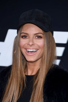 Actor Maria Menounos attends 'The Fate of the Furious' New York Premiere.