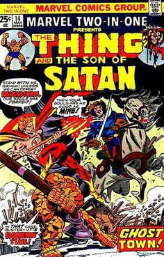 They'll make action figures these days of just about anyone — except, maybe, Daimon Hellstrom, which is a damned shame. Another oddball, dated '70s Marvel genre hero. They kept trying to goth Hellstrom up in the '90s and '00s, but I still prefer the shirtless/high-collar look.