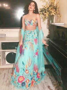 From promotional events to star-studded weddings, Bollywood's best dressed celebrities have taken Manish Malhotra's lehengas to almost every event on their busy calendars Designer Bridal Lehenga, Bridal Lehenga Choli, Lehenga Blouse, Indian Lehenga, Saree Dress, Indian Attire, Indian Wear, Indian Style, Indian Dresses