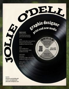 Jolie O'Dell's Record Resume | 21 Masterfully Creative Resumes