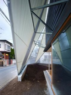 Modern Residence Featuring an Uncommon Tent-like Structure in Japan