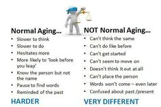 normal aging vs not normal  Visit us on goimprovememory.com  Via  google images  #memory #memorys #memorylane #memorybox #memoryfoam #memories #memoryloss #improvememory #memoryday #memoryhelp #memorybook