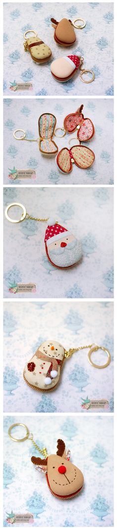 Crafts To Make And Sell, Diy And Crafts, Diy Craft Projects, Sewing Projects, Macaron Coin Purse, Fabric Crafts, Sewing Crafts, Diy Keychain, Sewing Techniques