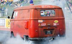 (ex) Feuerwehr T1 Panel Van Drag Race Car