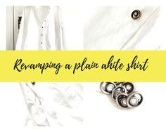 How to recycle a plain white shirt Plain White Shirt, Plain Shirts, Group, Lifestyle, Board, Hair, Beauty, Fashion, Moda
